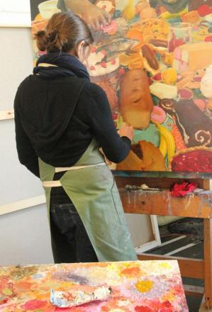 See painters at work in Helston this weekend