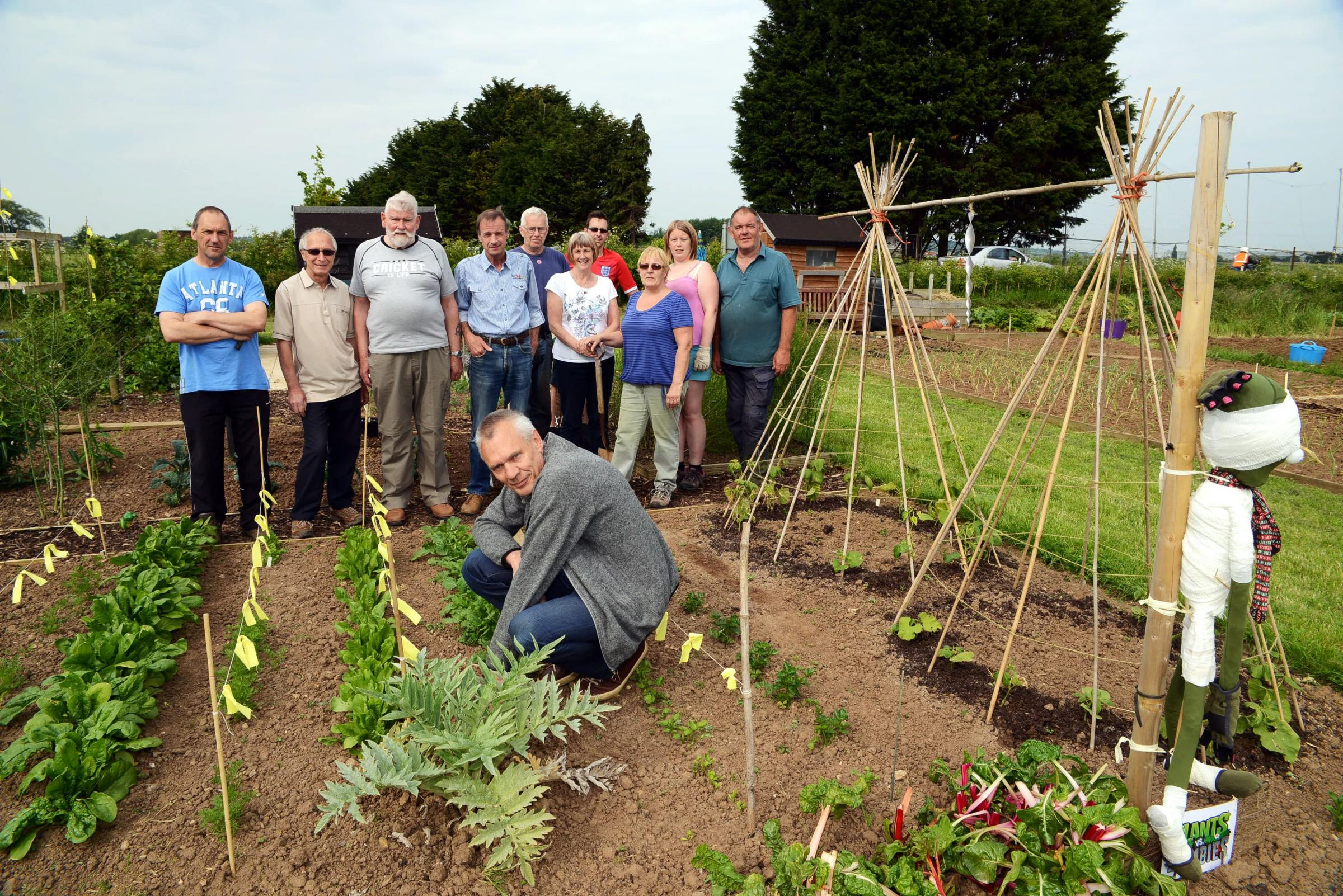 Proud members of the Westonzoyland Allotment Gardeners