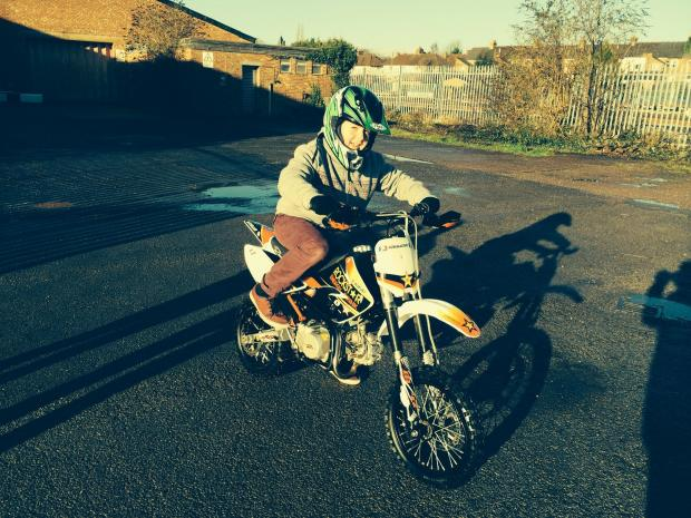 This is The West Country: Leo Patridge on his pride and joy bike.