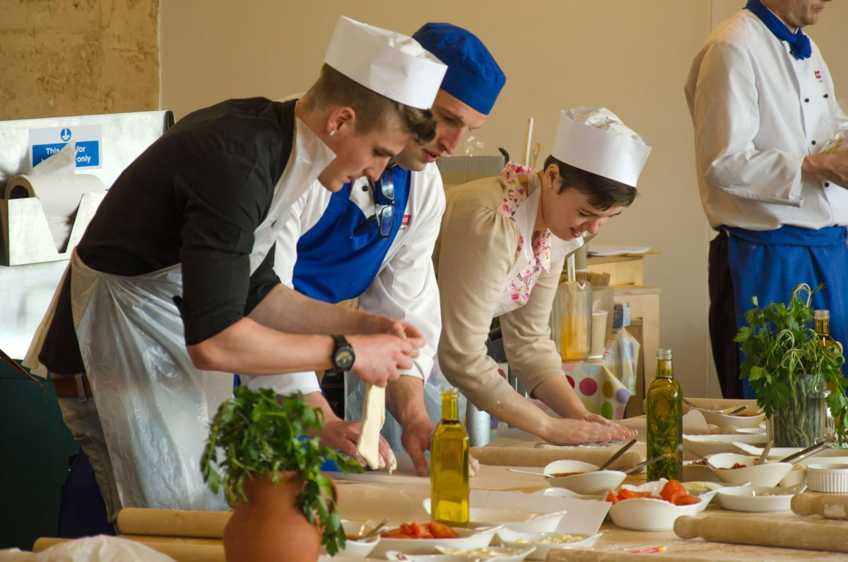 Potential apprentices try their hand at kitchen skills