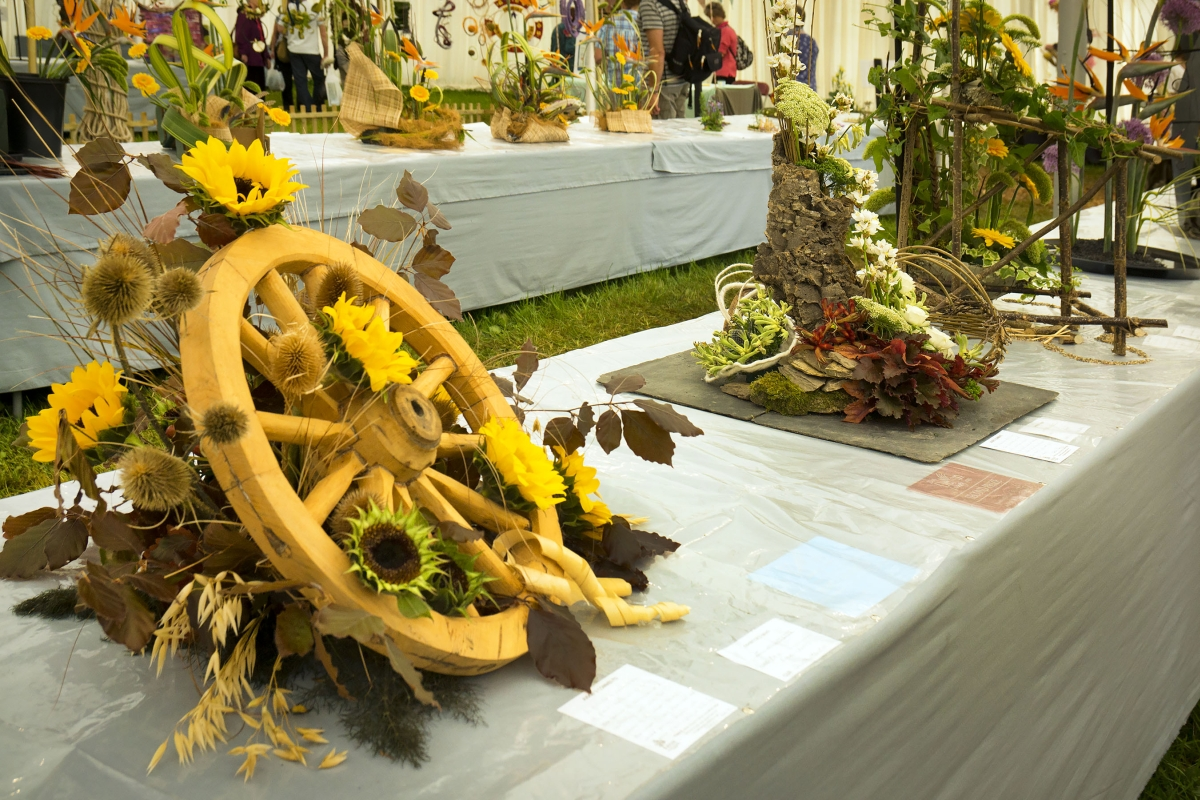 One of the floral exhibits at this year's show. PHOTO: Geoff & Tordis Pagotto