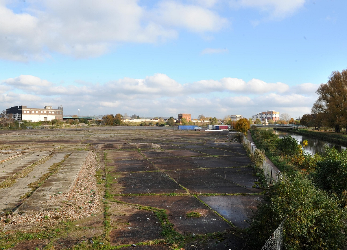 The derelict Firepool site in Taunton.