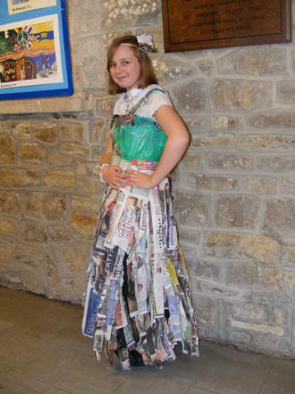 Hugh Sexey student makes dress out of rubbish