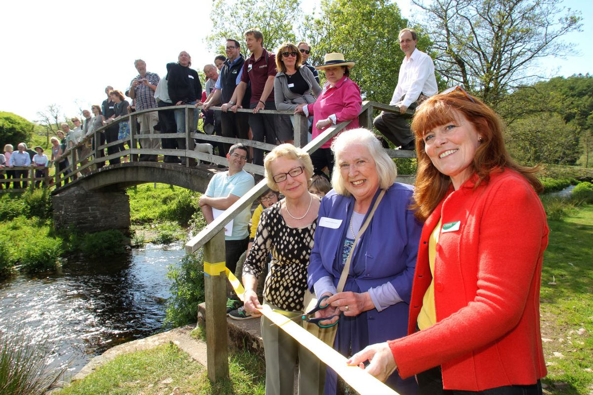From the left Cllr Suzette Hibbert, Rosemary Coleridge- Middleton and Andrea Davis at the opening. PHOTO: Exmoor National Park Authority.