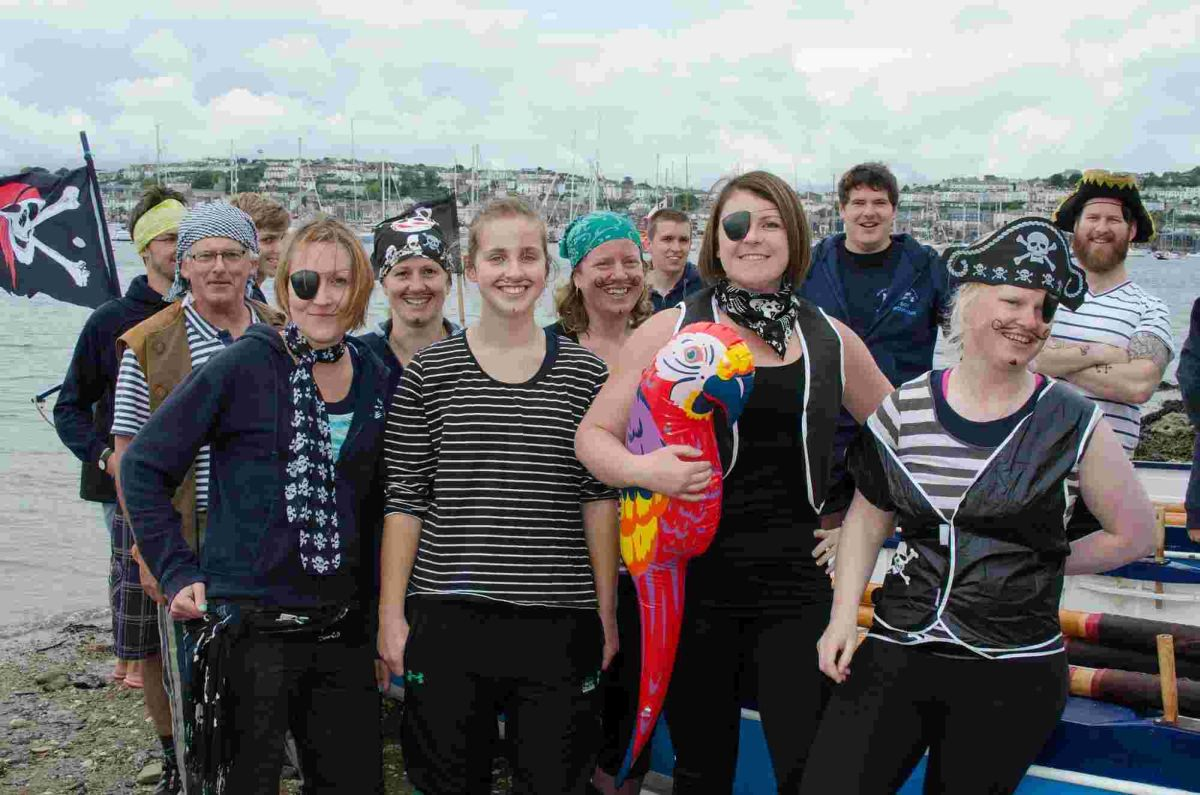 Fancy dress for lushing and Mylor Pilot Gig Club regatta: PICTURES