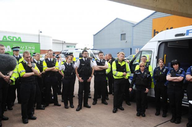 Police officers before the operation begins to crack down drivers