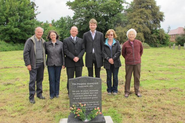 Alan and Rita Jones, Geoff Parker, funeral home manager at The Co-operative Funeralcare in Bridgwate, Miles Peterson, chair of The Friends of Wembdon Road Cemetery, Astrid Wilkins and Joyce Hurford.
