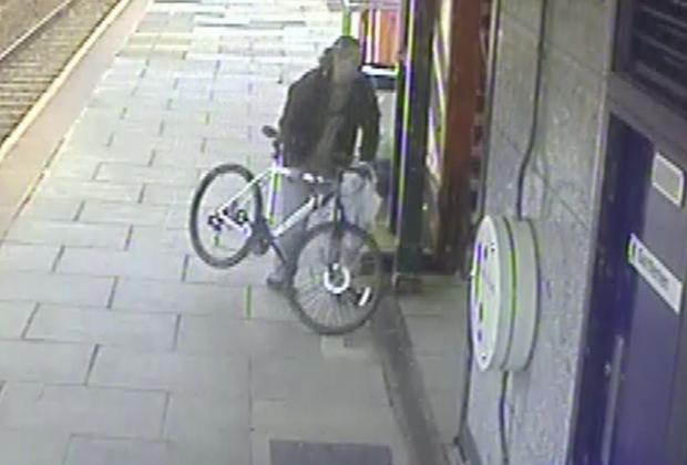 Can you help police find railway station bike thief?