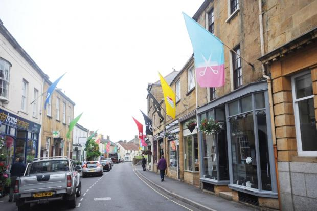 This is The West Country: Flags put up before the festival began.