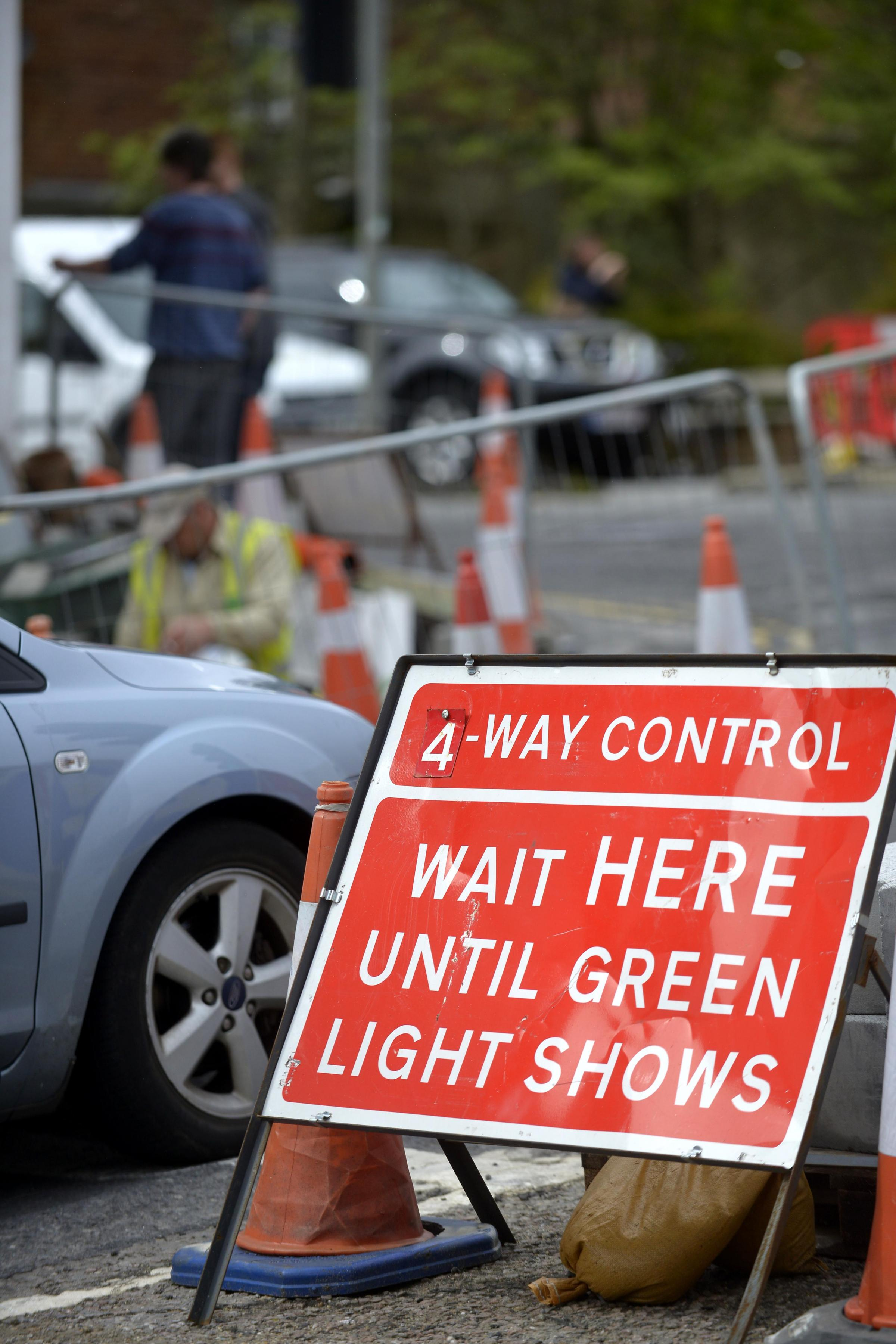 Roadworks meant many Wivey Link