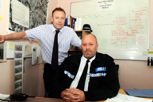 DI Ray Hulin and Insp Bob Muckett, who are concerned by the dangers of people taking legal highs.