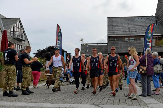 This is The West Country: Royal Marines birthday run reaches Falmouth