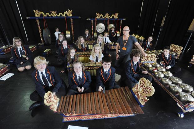 Bridgwater students enjoy Indonesian music