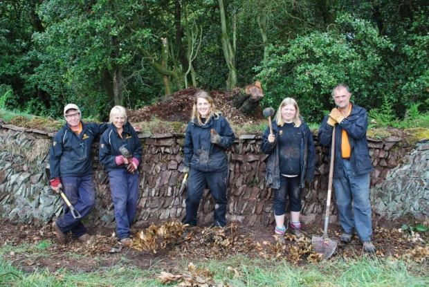 VOLUNTEERS Alistair Campbell, Gill Campbell, Hannah Pickard, Heather Newman and Terry Barnhouse. Photo: National Trust.