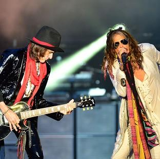 This is The West Country: Aerosmith's Joe Perry and Steven Tyler put aside their differences to headline the Download Festival