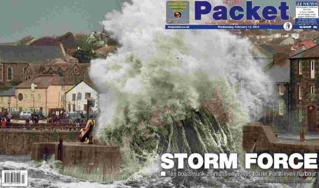Helston Packet's coverage of winter's storms up for award