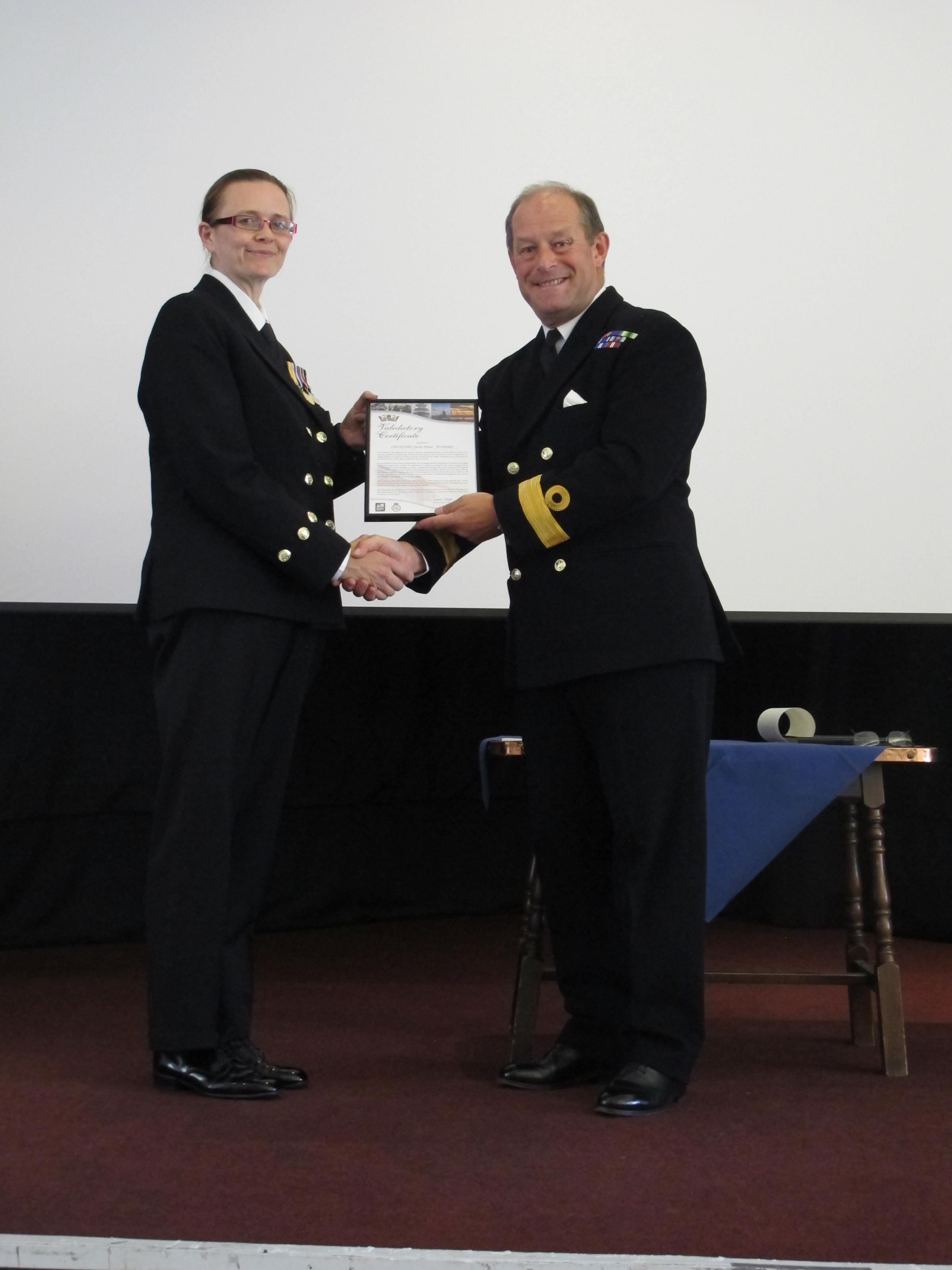 Royal Navy sailor rewarded for career excellence