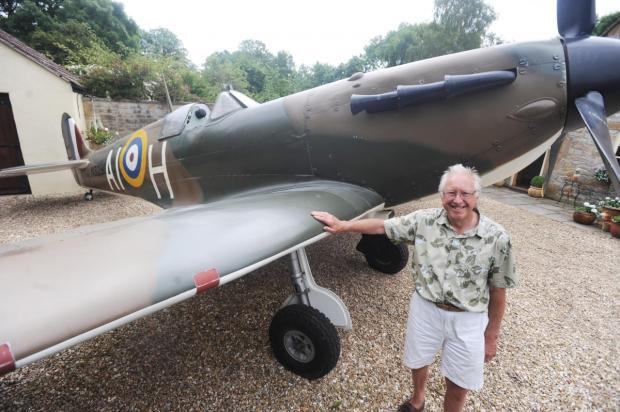 Isle Brewers pilot gets Spitfire for birthday surprise