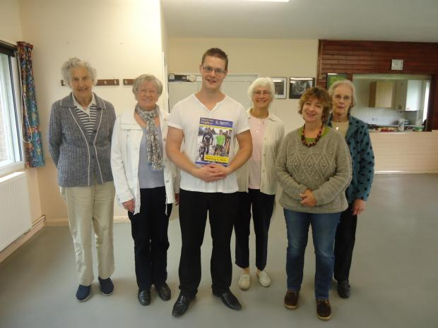 A GROUP of Somerset Sight's Volunteer Visitors with Steven Aughton after the meeting in Bridgwater this month.