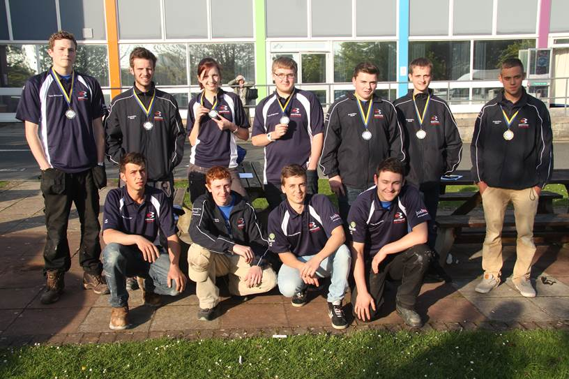 THE students who took part in the SkillBuild competition.