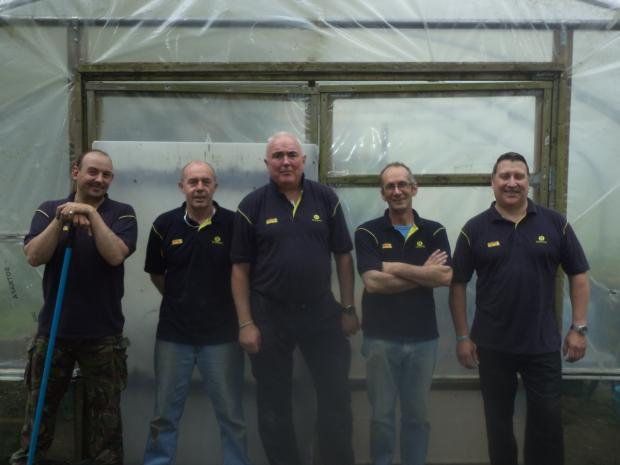 This is The West Country: VOLUNTEERS Rob Penlington, Martin Peacock, Rob Ward, Dave Webber and Johnnie Morris.