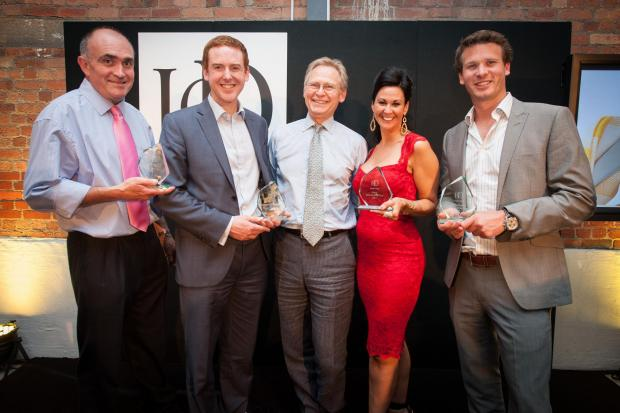 HELEN Lacey, founder of Red Berry Recruitment (in red) with other winners from the Institute of Director (IoD) Awards.