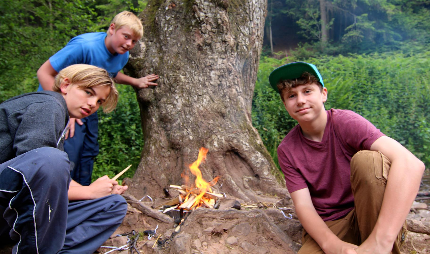 Robert Blake students test survival skills on Quantocks