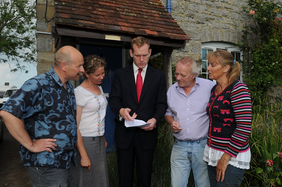 Jeremy Browne MP with, from left, Mark and Vicky Pearson and Mark and Debbie Kemp.