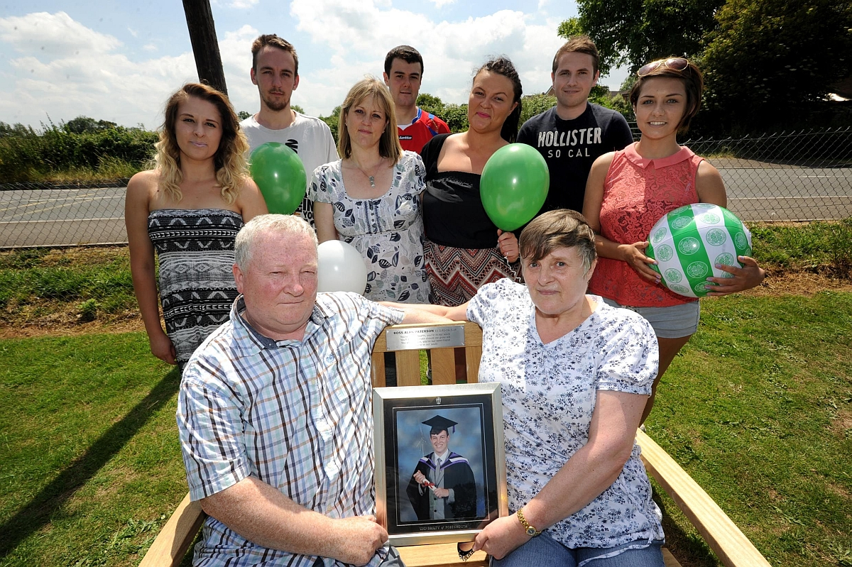 The family of Ross Paterson unveiled a memorial bench at Ruishton Park.
