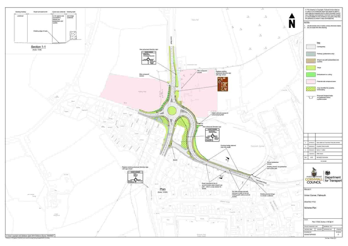 Concerns as plans for Union Corner roundabout formally submitted