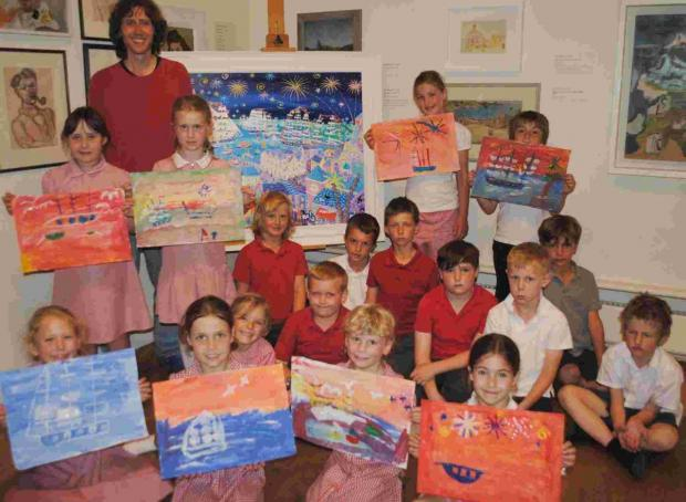 Hundreds of pupils inspired by Falmouth Art Gallery Tall Ships workshops