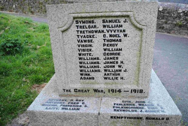 Can you help tell story of war dead on Helston's memorial?