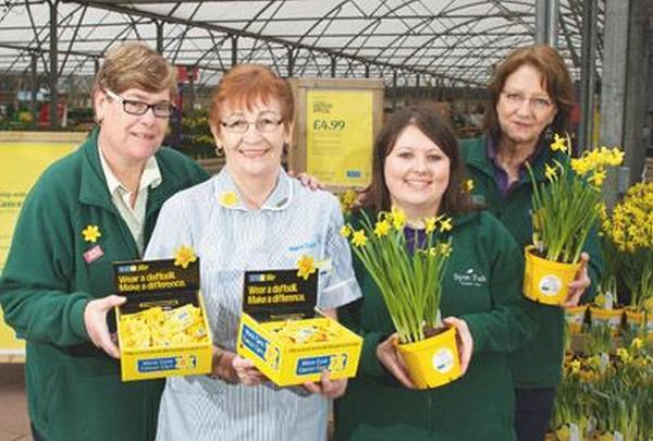 Sanders Garden World staff support Marie Curie