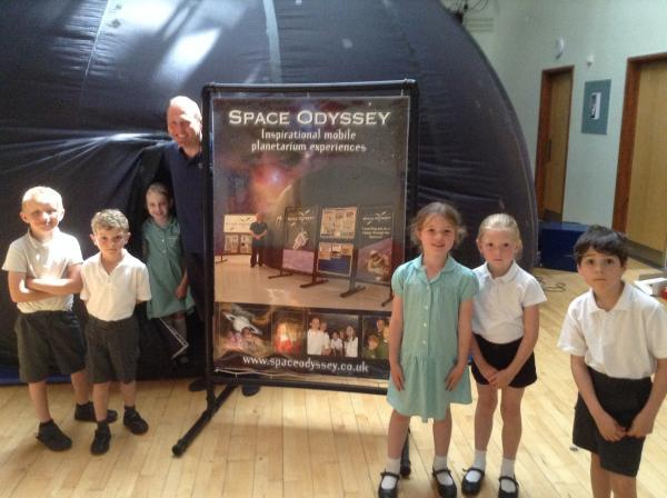Space Oydssey teaches Tatworth Primary School youngsters about the solar system