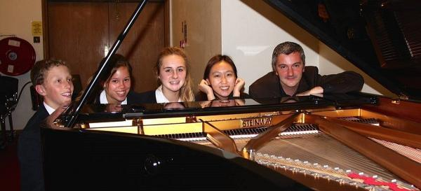 Pianists from Wellington School visit Steinway Hall