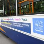This is The West Country: The Ahmadiyya Muslim Community are promoting peace, love and community cohesion with advertisements on Stagecoach buses.  Pictured is a bus with the advertisement along the side. (8154792)