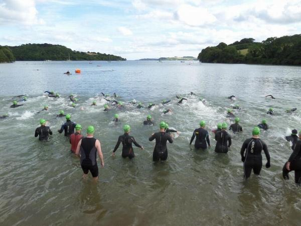 Swimmers take to the water at first Trelissick swim for charity