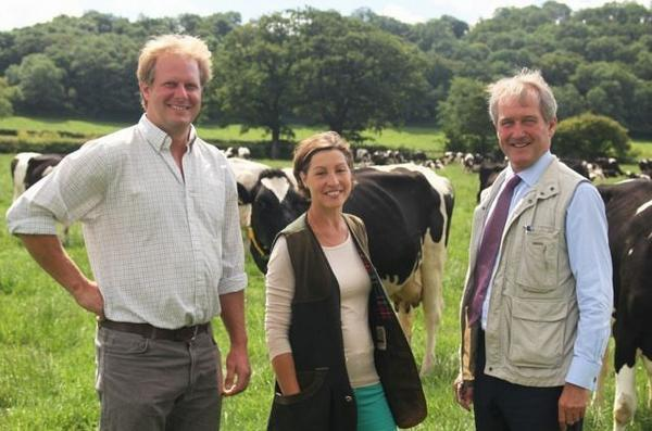 This is The West Country: Farmer Rodney Down with Rebecca Pow and Owen Paterson.