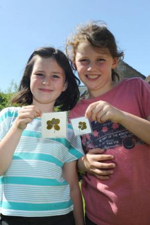 Lucky Horton sisters find five leaf clovers