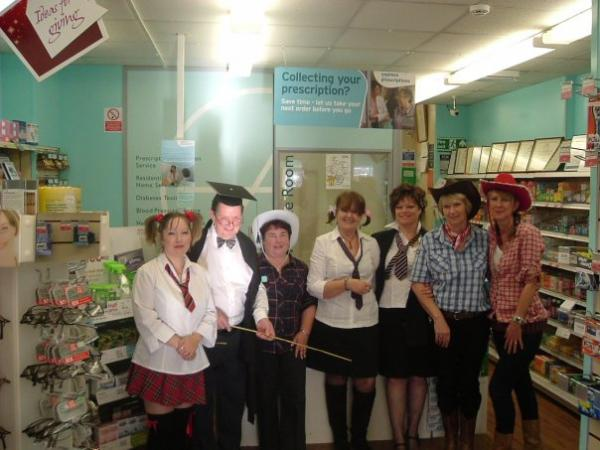 CARL and the Lloyds Pharmacy team dressed up at one of their recent fundraising events.