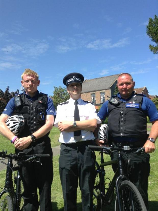 This is The West Country: Bridgwater police get out and about on bikes