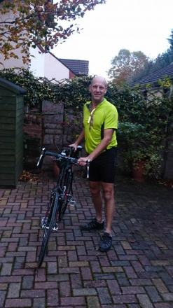 James saddles up to raise money for research into sister's rare lung condition