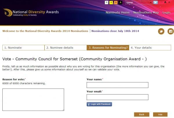 This is The West Country: VOTE to nominate Community Council for Somerset for award
