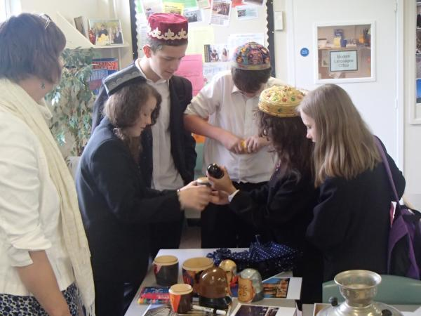 STUDENTS from Ansford Academy looking at traditional items in their Russian taster lesson.