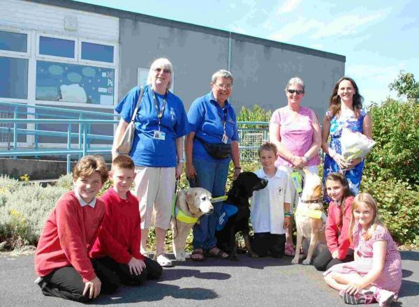 Penryn Junior pupils visited by guide dog they named PJ one last time