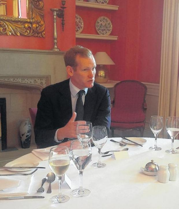 Jeremy Browne lunch at The Castle hotel in Taunton