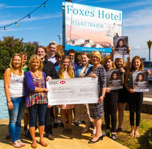 FOXES Hotel in Minehead has supported the school edition of Les Misérables by sponsoring the production.