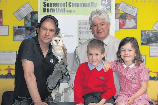 Youngsters enjoy barn owl visit