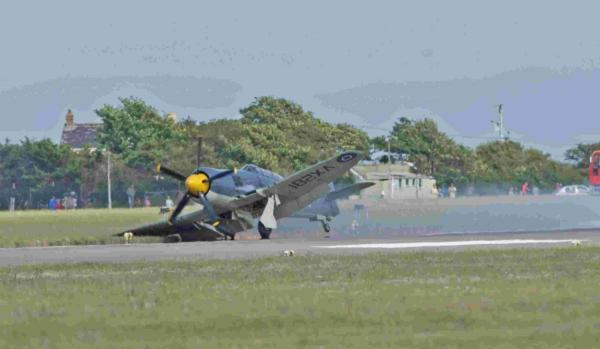 The historic Sea Fury crash landing at RNAS Culdrose Air Day last month. Picture: Bob Sharples