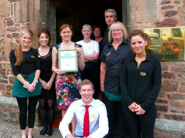 TripAdvisor award for Luttrell Arms in Dunster